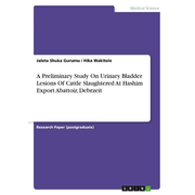 A Preliminary Study On Urinary Bladder Lesions Of Cattle Slaughtered At Hashim Export Abattoir, Debrzeit
