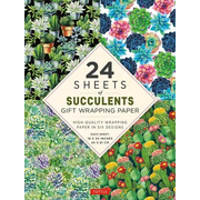 Succulents Gift Wrapping Paper - 24 Sheets: High-Quality 18 X 24 (45 X 61 CM) Wrapping Paper