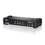 Aten 4-Port USB DVI Dual Link KVM Switch with Audio & USB 2.0 Hub (KVM cables included)