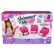 Cool Maker Shimmer Me Body Art Refill Pack with Exclusive Glitter, 3 Metallic Foils, Over 120 Designs