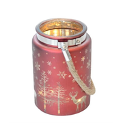 dameco 33970 candle holder Glass Red