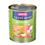 animonda GranCarno Superfoods flavor: turkey, beetroot, wild rose, linseed oil - 800g can