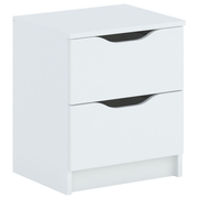 Topeshop ALEXO 2S BIEL nightstand/bedside table 2 drawer(s) White