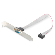Digitus Serial Slot Bracket adapter cable, D-Sub9/M - IDC 2x5pin/F