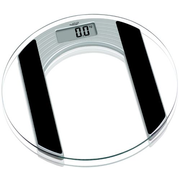 Adler AD 8122 Electronic personal scale Oval Black,Transparent