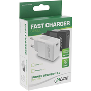 InLine USB PD Charger Single USB Type-C, Power Delivery, 20W, black