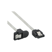 InLine SATA 6Gb/s Round Cable with latches angled 0.5m