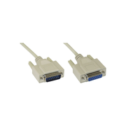 InLine gameport extension cable DB15 male / female 2m