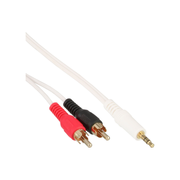 InLine 2x RCA Cable male / 3.5mm male white/gold 7.5m