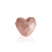 Candellana Heart Low Poly Candle wax candle Other Rose gold 1 pc(s)