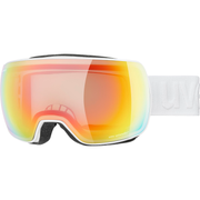 Uvex compact V winter sport goggles White Unisex Red, Yellow Spherical lens