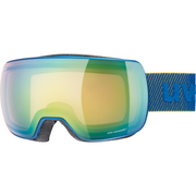 Uvex compact V winter sport goggles Blue Unisex Green, Yellow Spherical lens