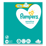 Pampers Sensitive Baby Wipes 15 Packs = 1200 Wipes