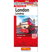 London 3 in 1 City Map - Map, Travel information, Highlights, Sightseeing, Index