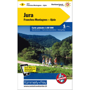 Jura-Franches Montagnes-Ajoie Wanderkarte Nr. 3 - 1:60000, waterproof, Free Map on Smartphone included