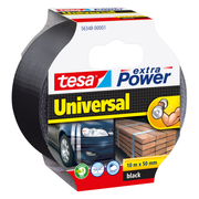 TESA extra Power Universal, Black, Fastening, Handcrafting, Marking, Repairing, Metal,Wood, 10 m, 50 mm