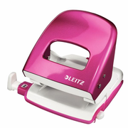 Leitz NeXXt Series Metal Office Hole Punch, 30 sheets, Pink, Metal, 8 cm, 5.5 mm, 380 g