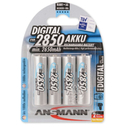 Ansmann 5.0350.92, Rechargeable battery, Nickel-Metal Hydride (NiMH), 1.2 V, 4 pc(s), 2850 mAh, Silver