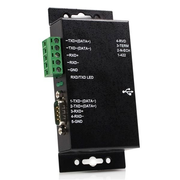 StarTech.com 1 Port Metal Industrial USB to RS422/RS485 Serial Adapter w/ Isolation, USB B, RS-422/485, Male/Female, 1.8 m, Black