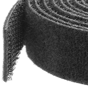 StarTech.com Hook-and-Loop Cable Tie - 25 ft. Roll, Black, 7.62 m, 19 mm, 187 mm, 214 mm, 25 mm