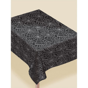 Amscan 570005-90, Rectangular, Black, White, Plastic, Tablecloth, 1370 mm, 2.43 m
