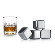 Vacu Vin 8714793186033, Stainless steel, Stainless steel, Whisky, Box, 4 pc(s), 26 mm