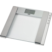 AEG PW 4923, Electronic personal scale, 150 kg, 100 g, Stainless steel, Transparent, Stainless steel, Glass