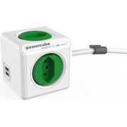 Allocacoc PowerCube Extended USB, 1.5 m, 4 AC outlet(s), Indoor, Green,White, CE KEMA, 250 V
