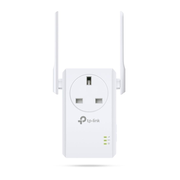 TP-LINK 300Mbps Wi-Fi Range Extender with AC Passthrough, Network repeater, 300 Mbit/s, 10,100 Mbit/s, Windows 2000,Windows 2000 Professional,Windows 7 Home Basic,Windows 7 Home Basic x64,Windows 7..., 0 - 20 dBmW, 10/100Base-T(X)