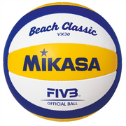 MIKASA Beach Volleyball Beach VX30, 68 cm, 270 g, Blue, White, Yellow, Synthetic, Indoor & outdoor, Monotone