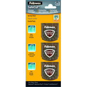 Fellowes SafeCut Replacement Blades - 3 Pack, 35 mm, 10 mm, 35 mm