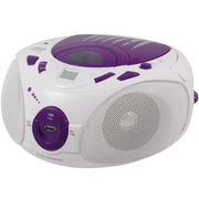 Metronic 477112, AM,FM, Player, CD,CD-R,CD-RW, 2 W, LCD, Purple