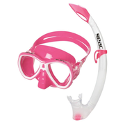 SEAC Elba Md, Adults, Half face mask, Snorkeling, Tempered glass, Silicone, Pink,Transparent