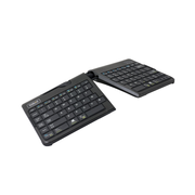 R-Go Tools Goldtouch Travel Go2 Keyboard, Standard, Wireless, Bluetooth, QWERTY, Black