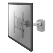 "Newstar flat screen wall mount, 101.6 cm (40""), 75 x 75 mm, 200 x 200 mm, 0 - 15°, 360°, Silver"