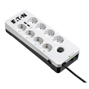 Eaton Protection Box 8 Tel@ USB DIN, 8 AC outlet(s), Type F, 220 - 250 V, 50/60 Hz, 10 A, 2500 W