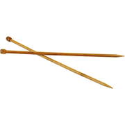 Creativ Company 42291, Single pointed knitting needle, Bamboo, Bamboo, 35 cm, 9 mm, 2 pc(s)
