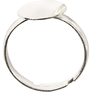 Creativ Company 613110, Cocktail ring, Metal, Female, Silver, 3 pc(s)