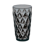 koziol CRYSTAL L, Black, Translucent, Glass, 1 pc(s), Round, 450 ml, 85 mm