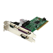 StarTech.com 2S1P PCI Serial Parallel Combo Card with 16550 UART, PCI, Parallel, Serial, Low-profile, RS-232, Green, CE, FCC, UL, TAA, REACH