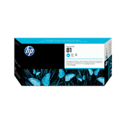 HP 81 Cyan DesignJet Dye Printhead and Printhead Cleaner, HP Designjet 5000, 5000ps, 5500 and 5500ps Printers, Cyan, C4951A, Singapore, 35.6 mm, 114.3 mm