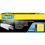 Rapid 11830700, Staples pack, 6 mm, Fixing, Labeling, 5000 staples, Galvanized steel, Silver