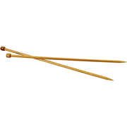 Creativ Company 42289, Single pointed knitting needle, Bamboo, Bamboo, 35 cm, 7 mm, 2 pc(s)