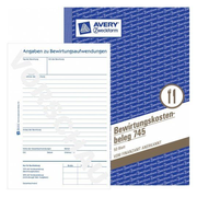 Avery 745, Blue, White, Paper, 148 mm, 210 mm