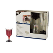 Papstar 12197, Red wine glass, Coupe glass, Glass, Transparent, 200 ml