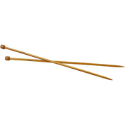 Creativ Company 42287, Single pointed knitting needle, Bamboo, Bamboo, 35 cm, 6 mm, 2 pc(s)