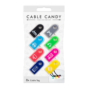CABLE CANDY 49.CC004, Cable markers, Rack, Black, Blue, Green, Gray, Pink, Yellow