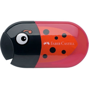 Faber-Castell 183526, Manual pencil sharpener, Black, Red