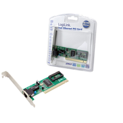 LogiLink PCI network card, Internal, Wired, PCI, 100 Mbit/s, Green
