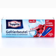 Toppits Gefrierbeutel, Translucent, Rectangle, 250 x 270 x 1 mm